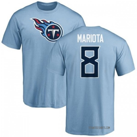 promo code 509bd 7bcdf Youth Marcus Mariota Tennessee Titans Name & Number Logo T-Shirt - Light  Blue